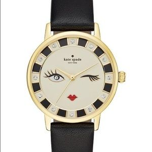 NWT Kate spade metro black leather watch